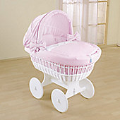 Leipold Kids Wicker Hood Crib in Pink