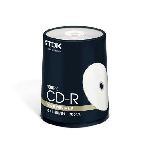 TDK CD-R Inkjet Printable Disc 100-pack
