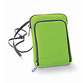 Bagbase Polyester Travel Wallet Smartphone Compatible Lime