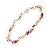 QP Jewellers 7.5in Diamond & Ruby Trinity Tennis Bracelet in 14K Rose Gold