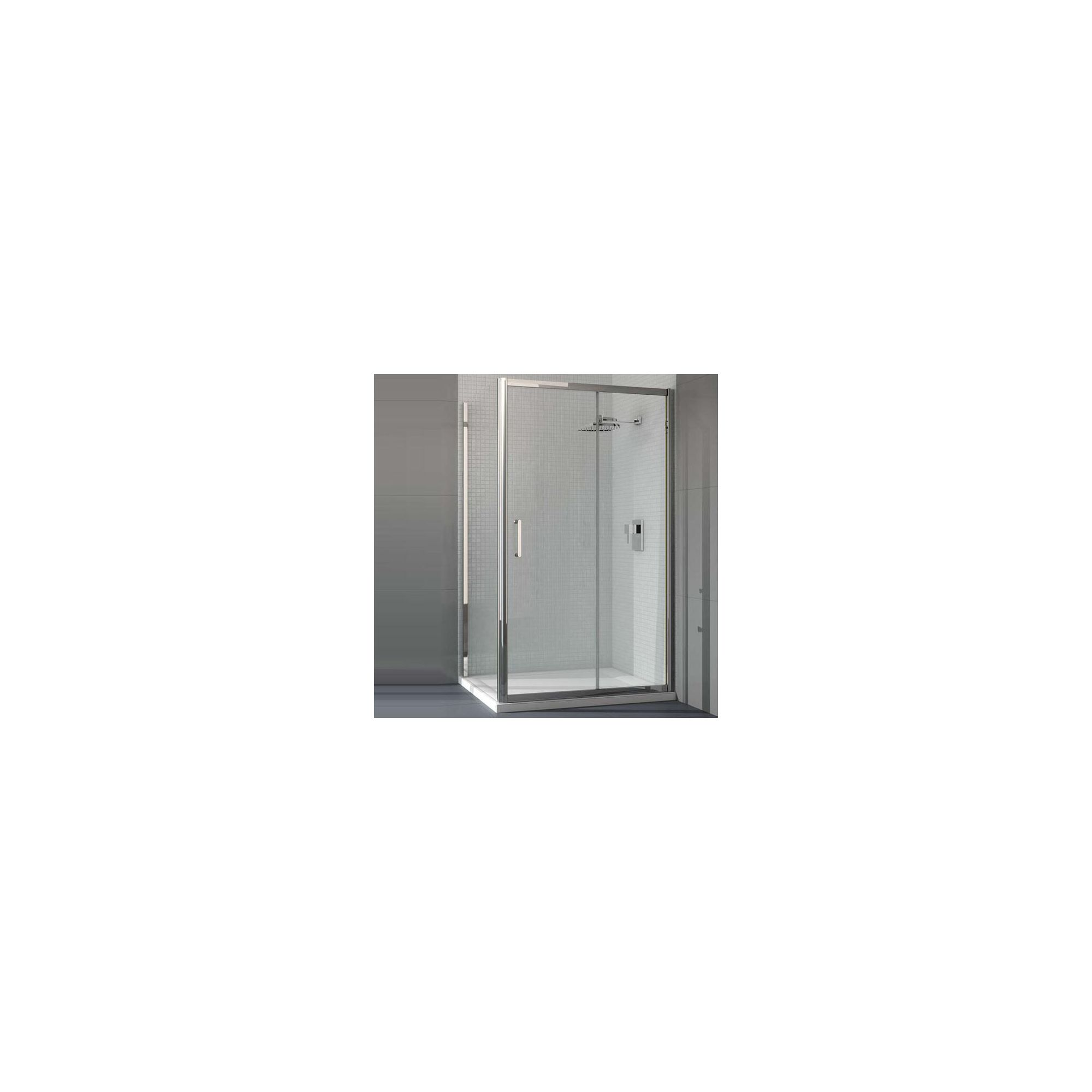 Merlyn Vivid Six Sliding Door Shower Enclosure, 1100mm x 800mm, Low Profile Tray, 6mm Glass at Tesco Direct
