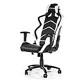 AK Racing Player Gaming Chair Black / White Perfect for office workers and gamers AK-K6014-BW