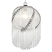 Miri Clear Glass Ceiling Light Shade Chandelier in Chrome