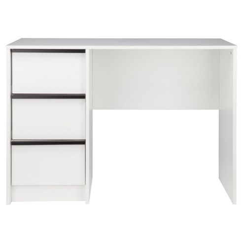 Trenton Computer Desk, White/Black