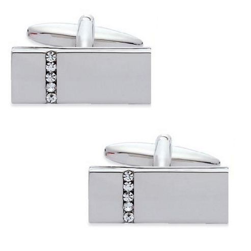 Crystal Bar Cufflinks - By Aston Brown