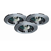 Paulmann Premium Line 105VA Three Downlight Set in Chrome