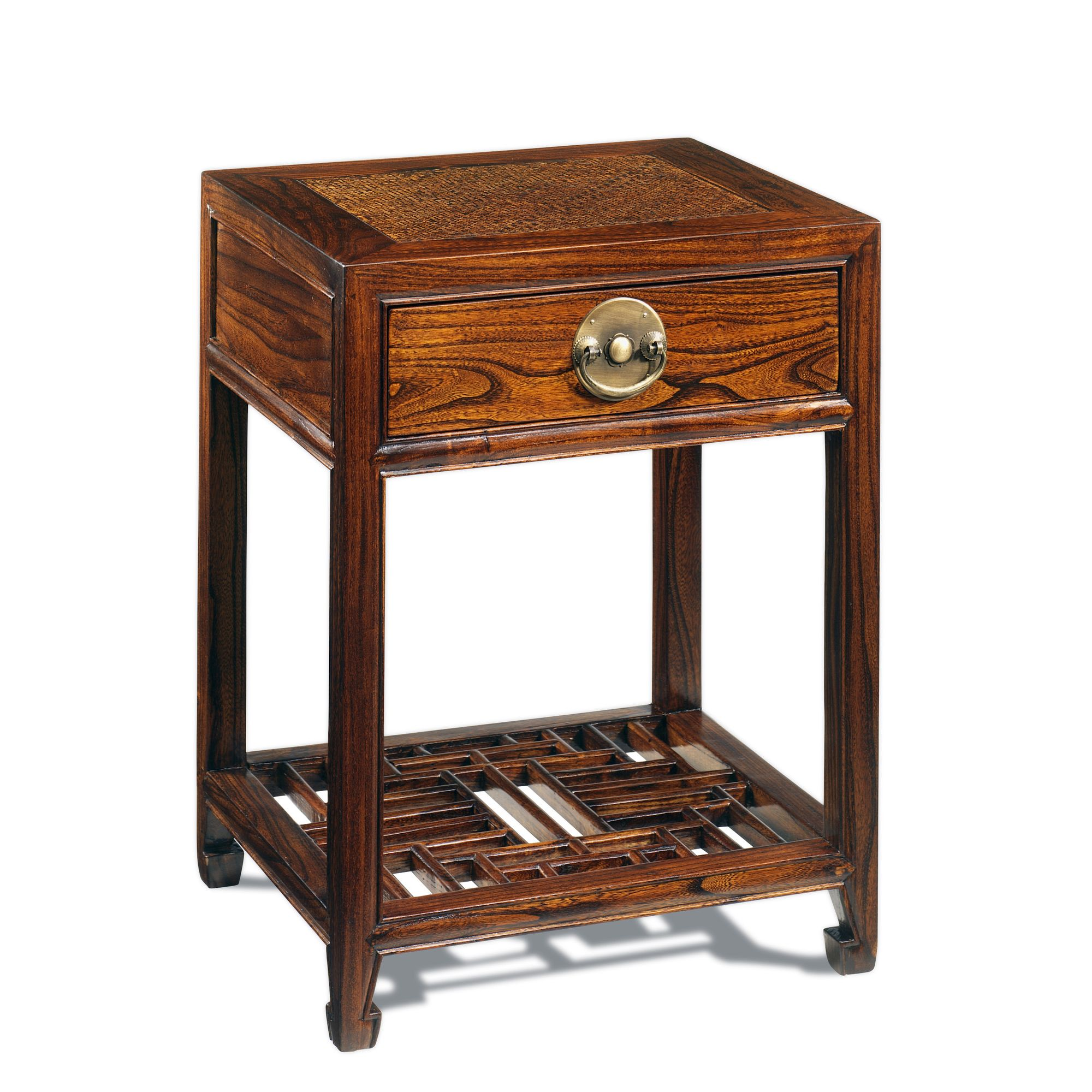 Shimu Chinese Classical Carved Side Table - Warm Elm at Tesco Direct