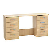 Ideal Furniture Budapest Double Dressing Table - Walnut