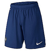 2014-15 Portugal Nike Away Shorts (Navy) - Kids - Navy