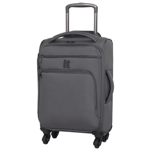 buy it luggage megalite 4 wheel small pewter suitcase from. Black Bedroom Furniture Sets. Home Design Ideas