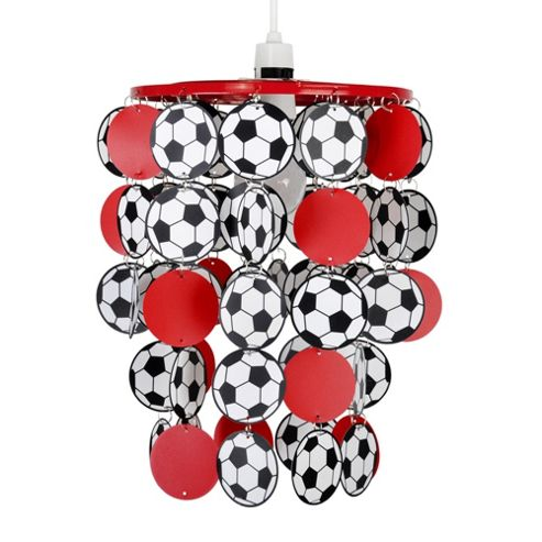 Football Ceiling Pendant Light Shade in Red