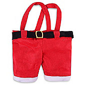 Fabric Santa Trousers Bottle Bag Holder with Handle Christmas Gift Bag