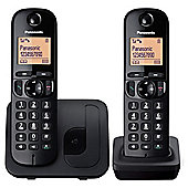 Panasonic KX-TG212EB Twin Cordless Telephone , Black