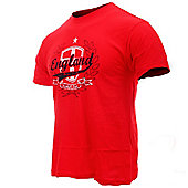 England Adults Football T-Shirts - Red