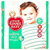 Tesco Loves Baby Ultra Dry Junior Plus - Size 5+ - 24 Pack