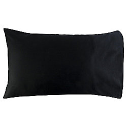 Housewife Pillowcase 100% Cotton 300 Thread Count - Black
