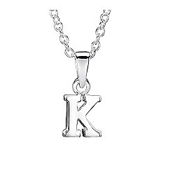 Jo For Girls Silver Initial Pendant - K