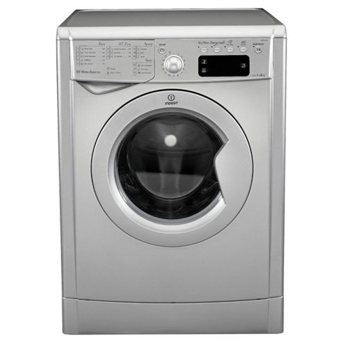 Indesit IWE81481S Washing Machine, 8Kg Wash Load, 1400 RPM Spin, A+ Energy Rating, Silver