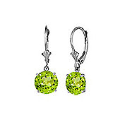QP Jewellers 2.70ct Peridot Leverback Earrings in Sterling Silver