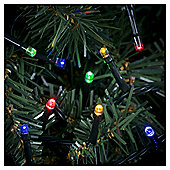 100 Multi Function LED Christmas Lights, Coloured