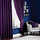 Catherine Lansfield Faux Silk Curtains 90x90 (229x229cm) - Jade - Tie backs included