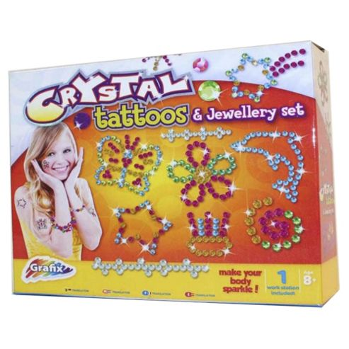 Grafix Crystal Tattoos and Jewellery Set