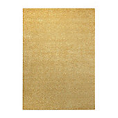 Esprit Spacedyed Yellow Tufted Rug - 140 cm x 200 cm (4 ft 7 in x 6 ft 7 in)
