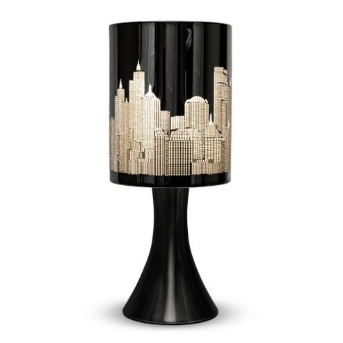 Buy New York Skyline Touch Table Lamp Gloss Black From