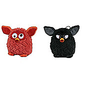 Furby 14cm Bundle Black and Orange 2 Items