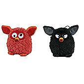 Furby 14cm Bundle Black and Orange 2 Items