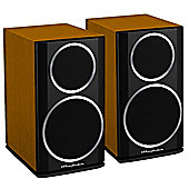 WHARFEDALE DIAMOND 121 BOOKSHELF SPEAKERS (CINNAMON CHERRY)