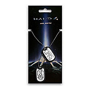 Halo 4 Unsc Dog Tags With Brushed Metal Finish (ge0431) - Accessories