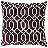 KLiving Valencia Geometric Cushion Cover Plum 43x43cm(Pack of 2)