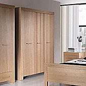 Urbane Designs Jive 3 Door Wardrobe in Oak