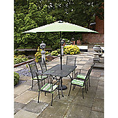 Royal Garden Classic 7-piece Rectangular Garden Dining Set