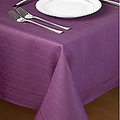 Country Club Hem Stitch Tablecloth in Plum