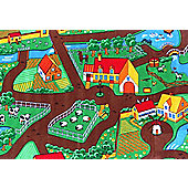 Dandy Farmyard Kids Rectangular Rug - 133cm x 95cm