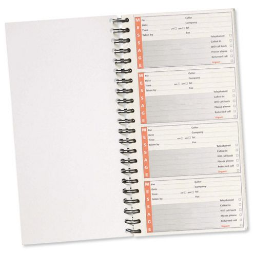 5 Star Telephone Message Book Wirebound Carbonless 320 Notes 80 Pages 279x152mm