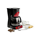 Andrew James 1000W Automatic Filter Coffee Machine in Red