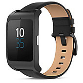 Sony SWR50 SmartWatch 3 Leather Android Smart Watch (Black)