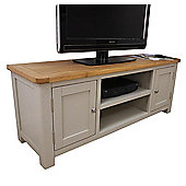 Aspen Painted Sage Grey Large Oak TV Unit / Oak TV Stand