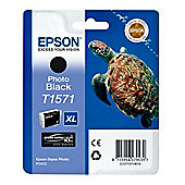Epson T1571 Ink Cartridge for Stylus Photo R3000 Printer - Photo Black