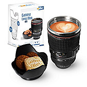 Twitfish Lens Mug with Lid - Black
