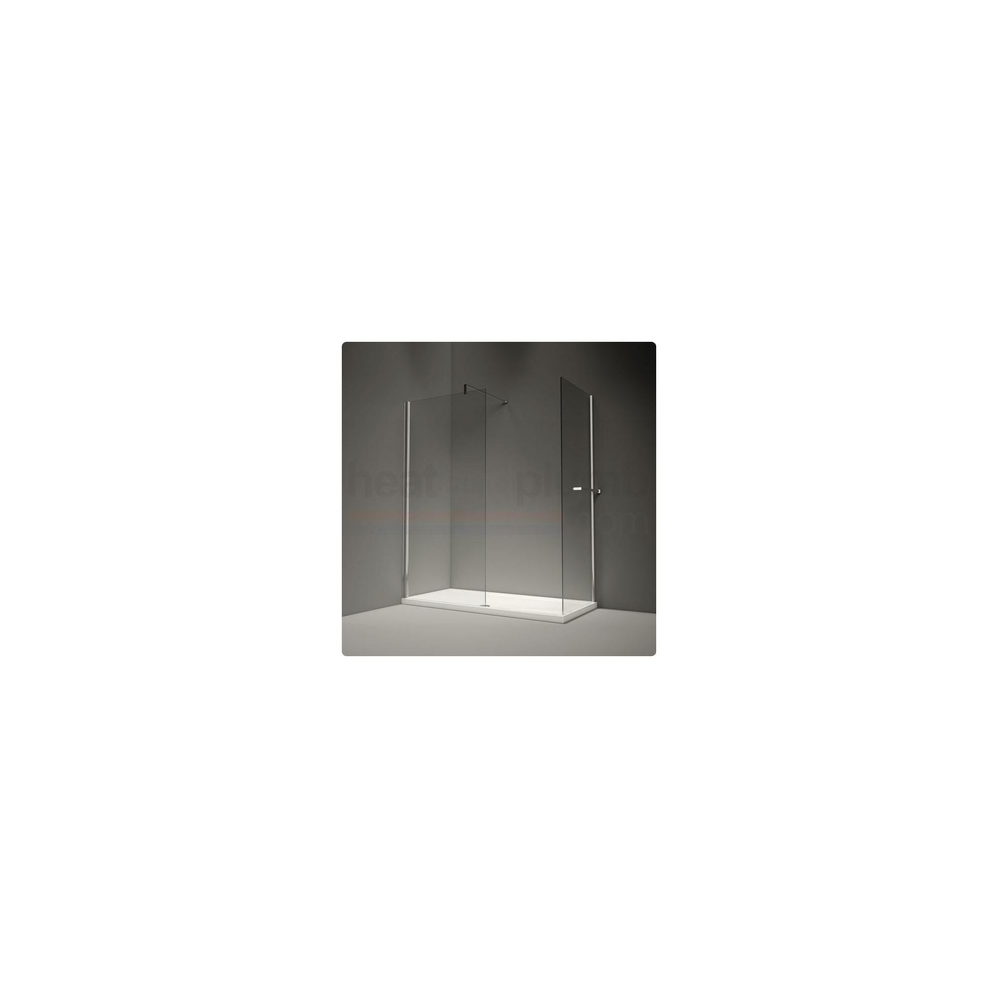 Merlyn Series 6 Straight Glass Walk-In Shower Enclosure, 1600mm x 800mm, Low Profile Tray, 8mm Glass at Tesco Direct