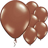 Chestnut Brown Balloons - 11' Metallic Latex Balloon (50pk)