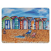 Thomas Frederick Beach Huts 29 cm Placemat (Pack of 4)