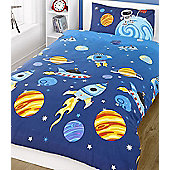 Rocket Toddler Bedding - Spaceships, Stars and Planets