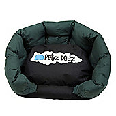 Petz Podz Dog Bed - Green - Small (10 - 15cm H x 32 - 37cm W x 25 - 31cm D)