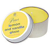 Prices Candle Tin  Lemon And Vanilla Glaze