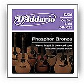 D'Addario Phosphor Cust. Light Acoustic Guitar Strings